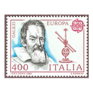 Galileo Galilei Astronomy Postcard