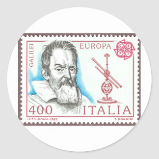 Galileo Galilei Buttons and Magnets Classic Round Sticker
