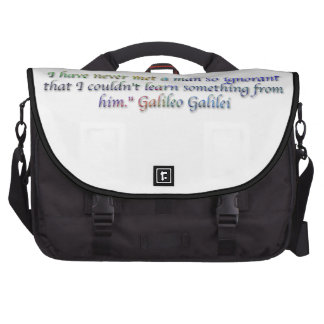 Galileo Galilei quote Commuter Bags