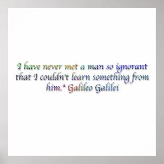 Galileo Galilei quote Posters