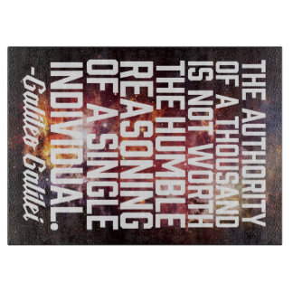 Galileo Galilei Reasoning Individual Quote Cutting Board