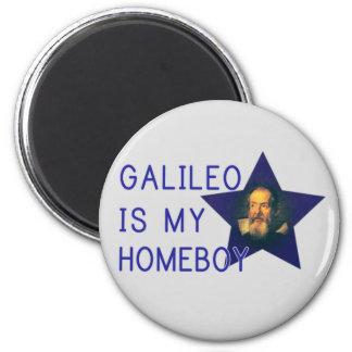 Galileo is my Homeboy 2 Inch Round Magnet