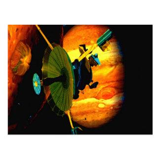 galileo jupiter space sky outer space exploration postcard