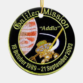 Galileo Mission to Jupiter Double-Sided Ceramic Round Christmas Ornament