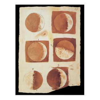 Galileo moon phases 1616 postcard