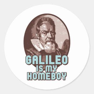 Galileo Pegatinas Redondas