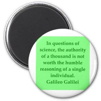 Galileo quote 2 inch round magnet