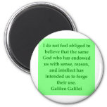 Galileo quote fridge magnets