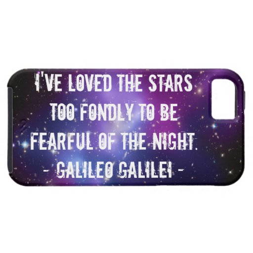 Galileo Quote Galaxy Cluster Case-Mate Case iPhone 5 Covers
