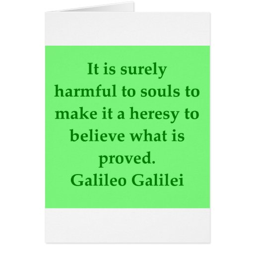 Galileo quote greeting card