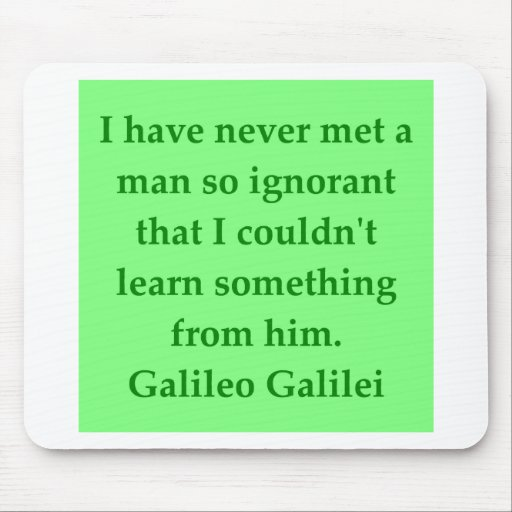 Galileo quote mouse pad