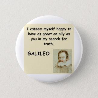 galileo quote pinback button
