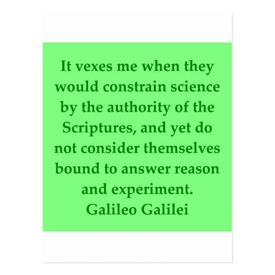 Galileo quote postcard