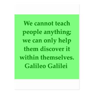 Galileo quote postcards