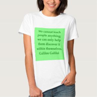 Galileo quote t-shirt