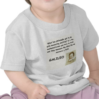 galileo quote tee shirts