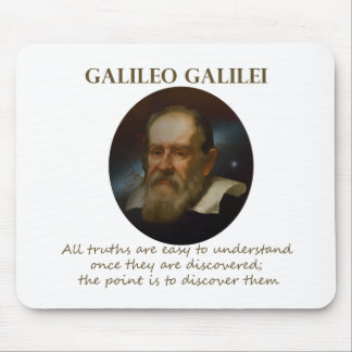 Galileo Quote - Truth Mouse Pad