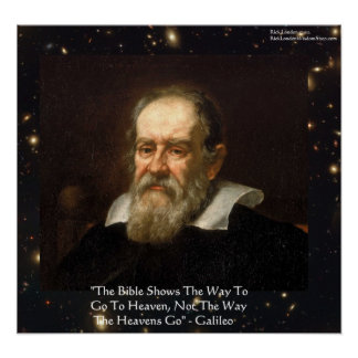 """Galileo """"Way Heavens Go"""" Quote Poster by Rick Lond"""