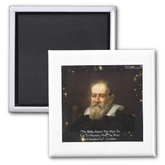 """Galileo """"Way To Heaven"""" Quote Gifts Tees Mugs Etc 2 Inch Square Magnet"""