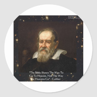 """Galileo """"Way To Heaven"""" Quote Gifts Tees Mugs Etc Classic Round Sticker"""