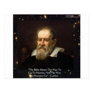 "Galileo ""Way To Heaven"" Quote Gifts Tees Mugs Etc Postcard"