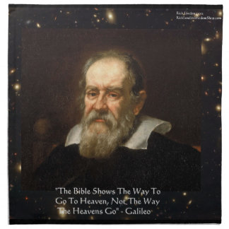 "Galileo ""Way To Heaven"" Quote Table Napkin by Rick Napkins"