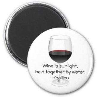 Galileo Wine Quote Magnet