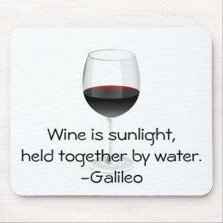 Galileo Wine Quote Mouse Pad