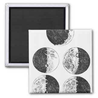 Galileo's drawings of the phases of the moon magnet