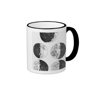 Galileo's drawings of the phases of the moon ringer mug