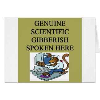 galimatías científico tarjeta de felicitación