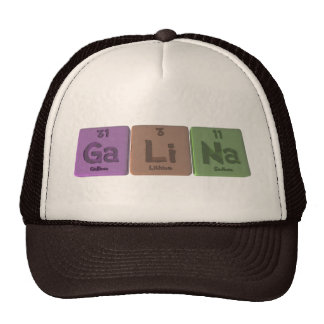 Galina as Gallium Lithium Sodium Hats