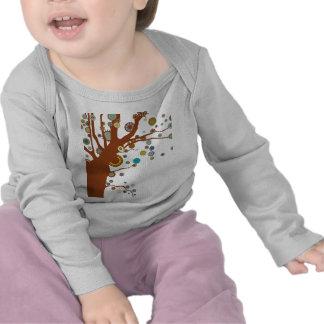 GALINA el árbol Camisetas