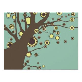 """GALINA el árbol Invitación 4.25"""" X 5.5"""""""