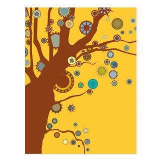 GALINA el árbol Postales