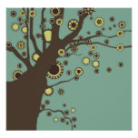 GALINA el poster del árbol