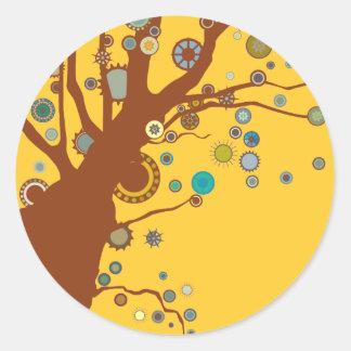 GALINA the Tree Round Stickers