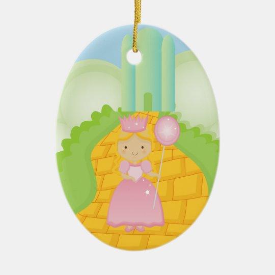 Galinda on Yellow Brick Road Christmas Ornament
