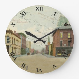 Galion Ohio Post Card Clock - S. Market Street
