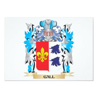Gall Coat of Arms - Family Crest 5x7 Paper Invitation Card
