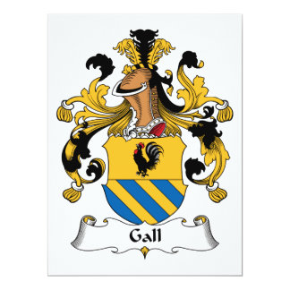 Gall Family Crest 6.5x8.75 Paper Invitation Card