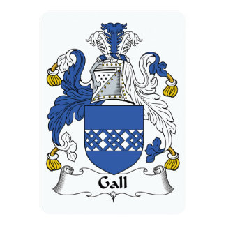Gall Family Crest 5x7 Paper Invitation Card