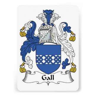 Gall Family Crest Personalized Invites