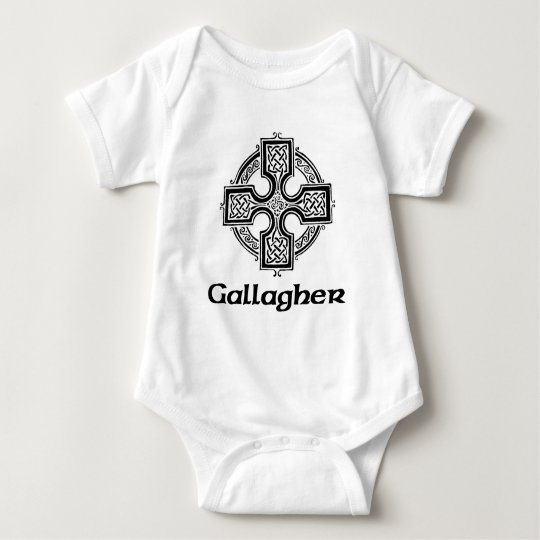 Gallagher Celtic Cross Baby Bodysuit