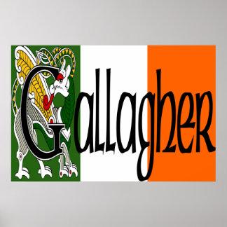 Gallagher Celtic Dragon Print