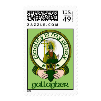 Gallagher Clan Motto Postage Stamps