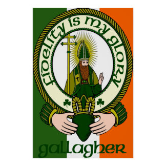Gallagher Clan Motto Poster Print