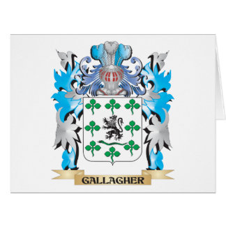 Gallagher Coat of Arms - Family Crest Large Greeting Card