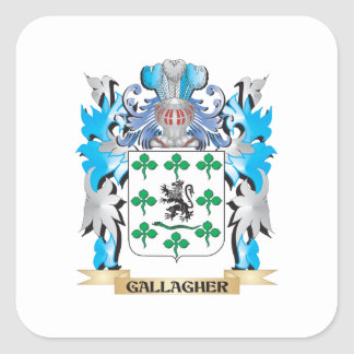Gallagher Coat of Arms - Family Crest Square Sticker