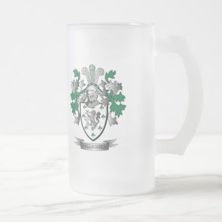 Gallagher Coat of Arms Frosted Glass Beer Mug